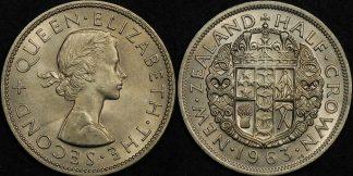 New zealand 1963 half crown Choice Uncirculated