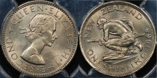 New zealand 1965 shilling 1s PCGS MS65 GEM Uncirculated