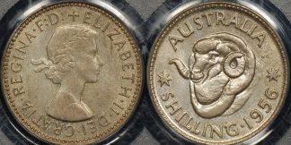 PCGS MS63 Australia 1956 shilling 1s Uncirculated