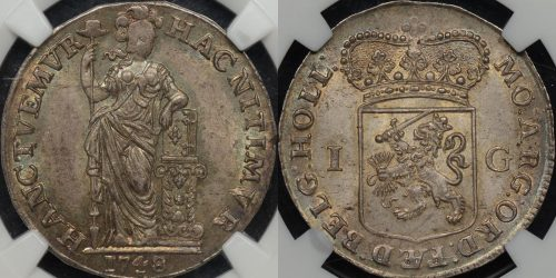 Proclamation coin netherlands holland 1748 gulden guilder NGC MS65 Choice Uncirculated km 73