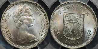 Rhodesia 1964 shilling 1s km 2 PCGS MS64 Choice Uncirculated