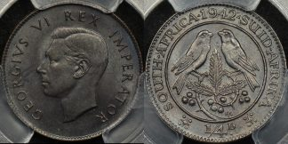 South africa 1942 farthing 1 4d km 23 PCGS MS64