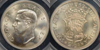 South africa 1952 2 1 2 shillings km 39.2 PCGS PR66 proof