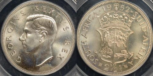 South africa 1952 2 1 2 shillings km 39.2 PCGS PR66 proof