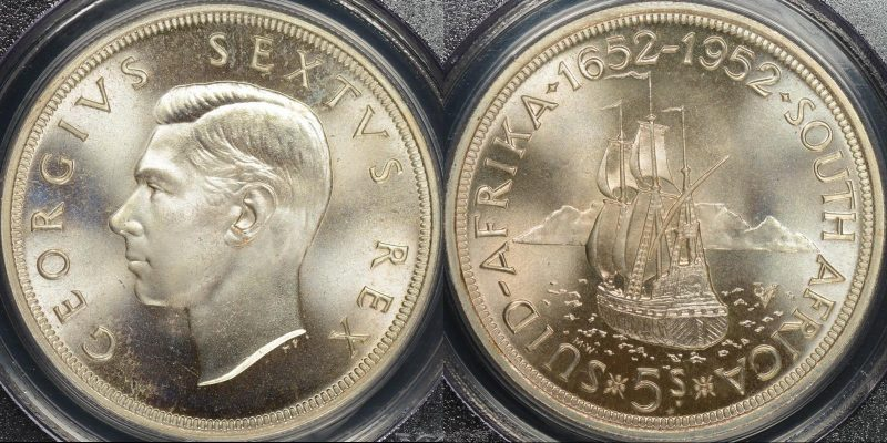 South africa 1952 5 shillings km 41 PCGS PR66 proof