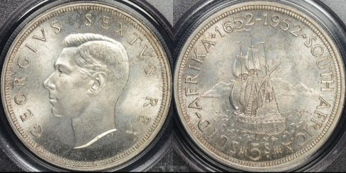 South africa 1952 5 shillings km 41 PCGS PR66 proof