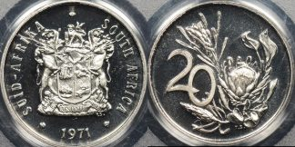 South africa 1971 20 cent km 86 PCGS PR67dcam proof